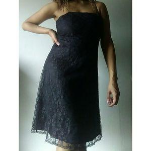 Vintage Worthington Black Lace Dress